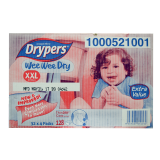 Drypers Wee Wee Dry Box XXL 15+Kg Disposable Diapers 32 X 4packs - Malaysia