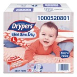Drypers Wee Wee Dry Box L  Disposable Diapers 4 x 44 - Malaysia