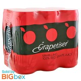 Grapetiser Red Can 6 x 330ml - South Africa