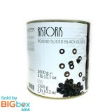 Ristoris Pitted Black Olives 2.6kg - Italy