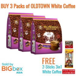 OLDTOWN White Coffee 3in1 Mocha 35g x 15sticks [BUNDLE OF 3 with FREE GIFT]
