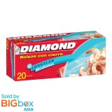 Diamond Zipper Bags Freezer Medium 20s
