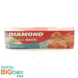 Diamond Zipper Bags Freezer Large 15s