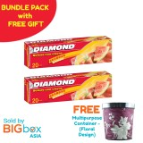 [BUNDLE PACK with FREE GIFT] Diamond Zipper Bags Storage Large 20s x 2