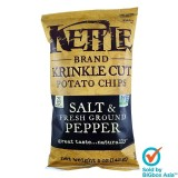 Kettle Potato Chips 142g - Krinkle Cut Salt & Fresh Ground Pepper