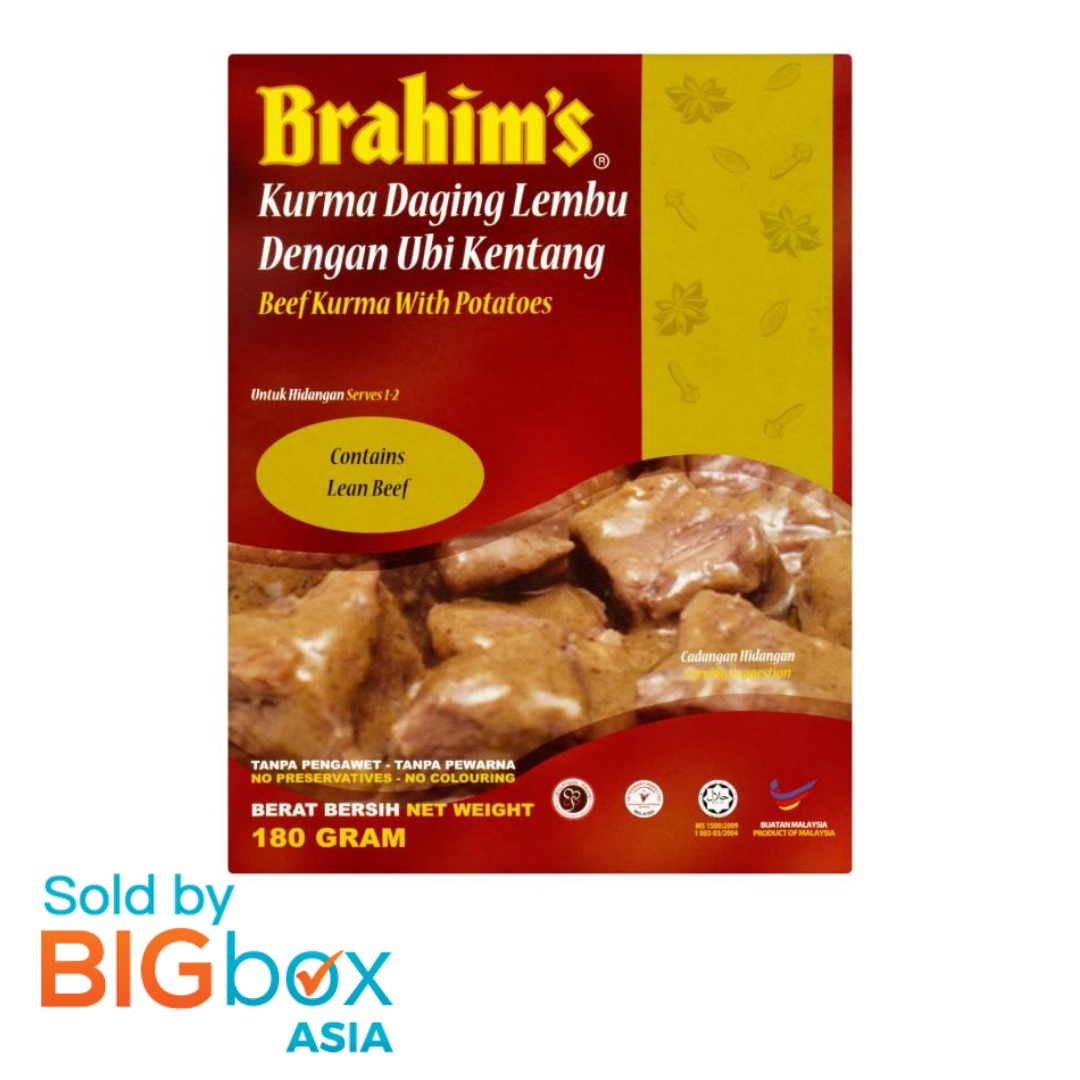 Brahim's Ready To Eat Meals 180g - Beef Kurma with Potatoes