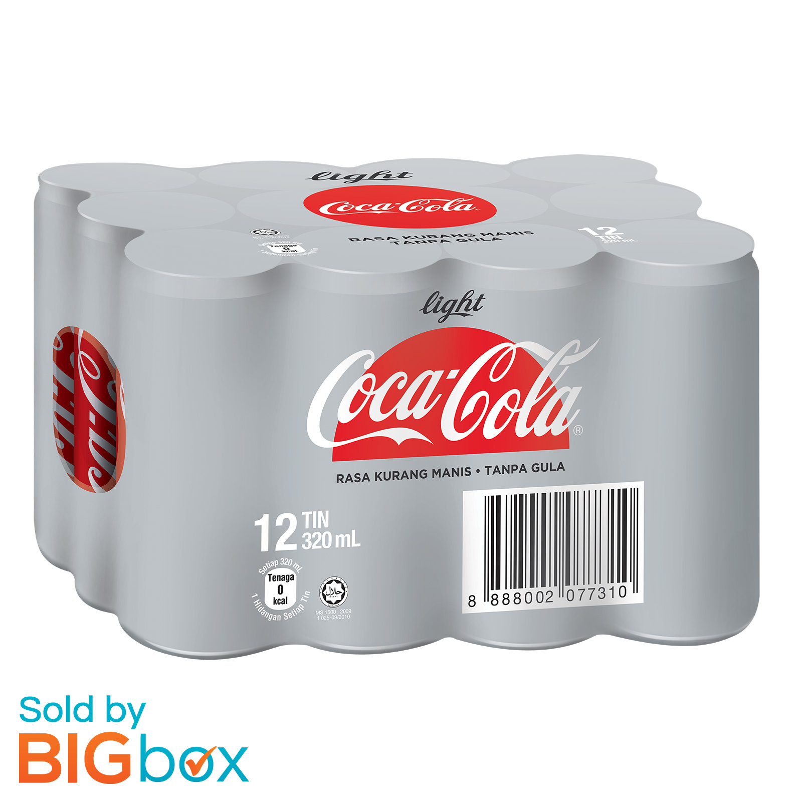 Coca-Cola Light Can 12 x 320ml - Malaysia