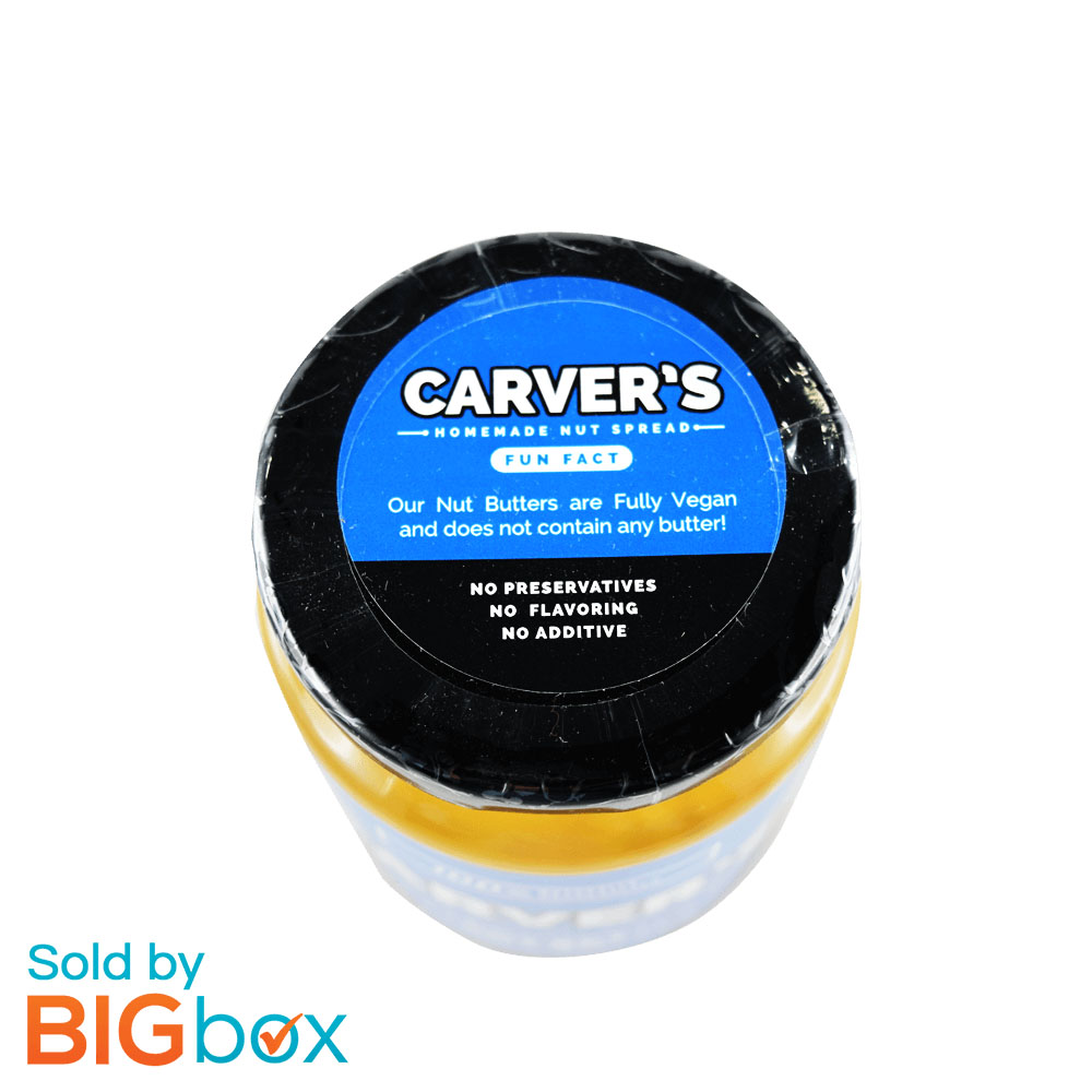Carver's No Sugar 360g - Chunky Peanut Butter