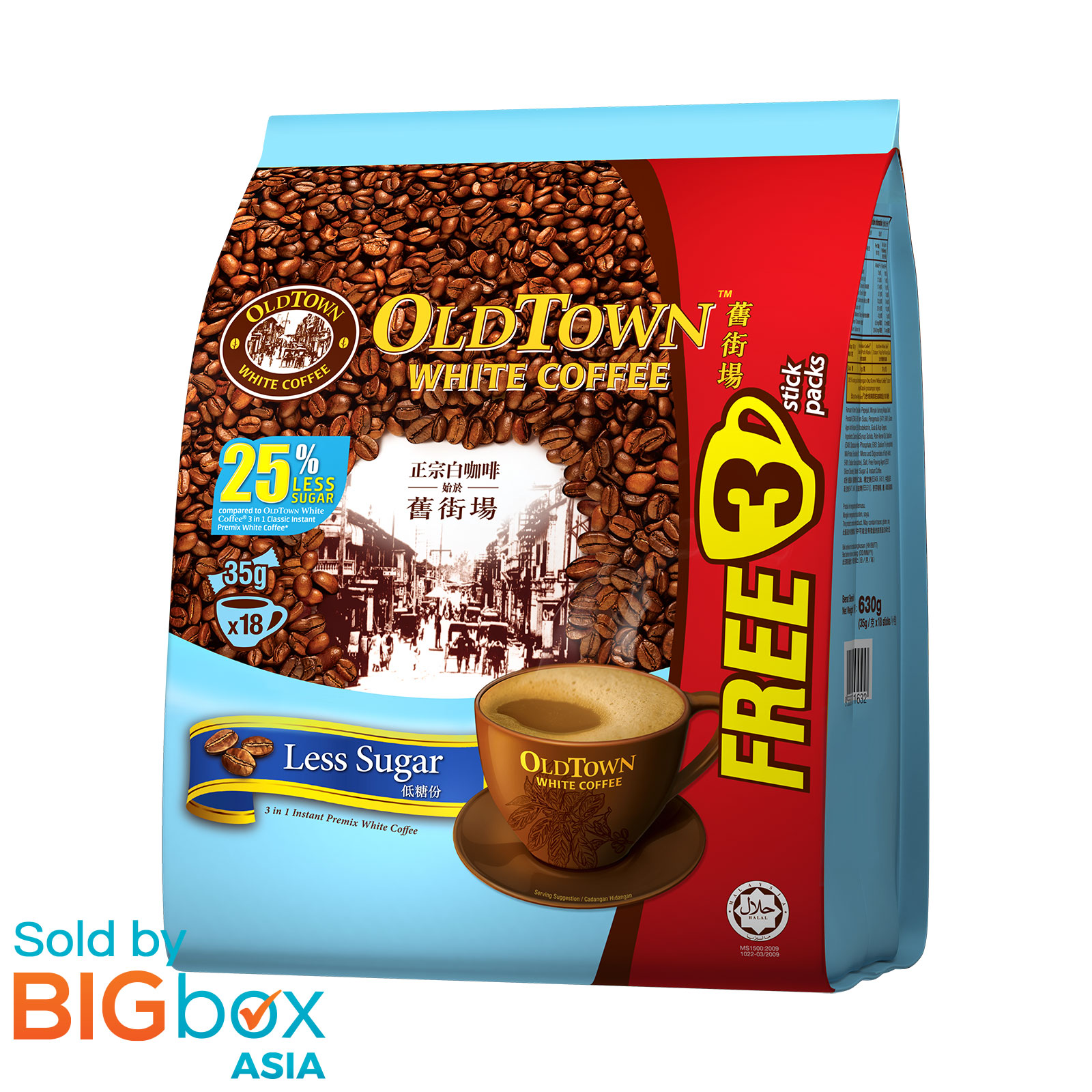 OLDTOWN White Coffee 3in1 630g (15 + 3 sachets FOC) - Less ...