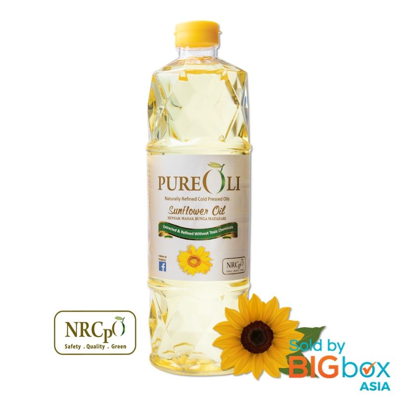 PureOli Naturally Refined Cold Pressed 1kg - Sunflower Oil