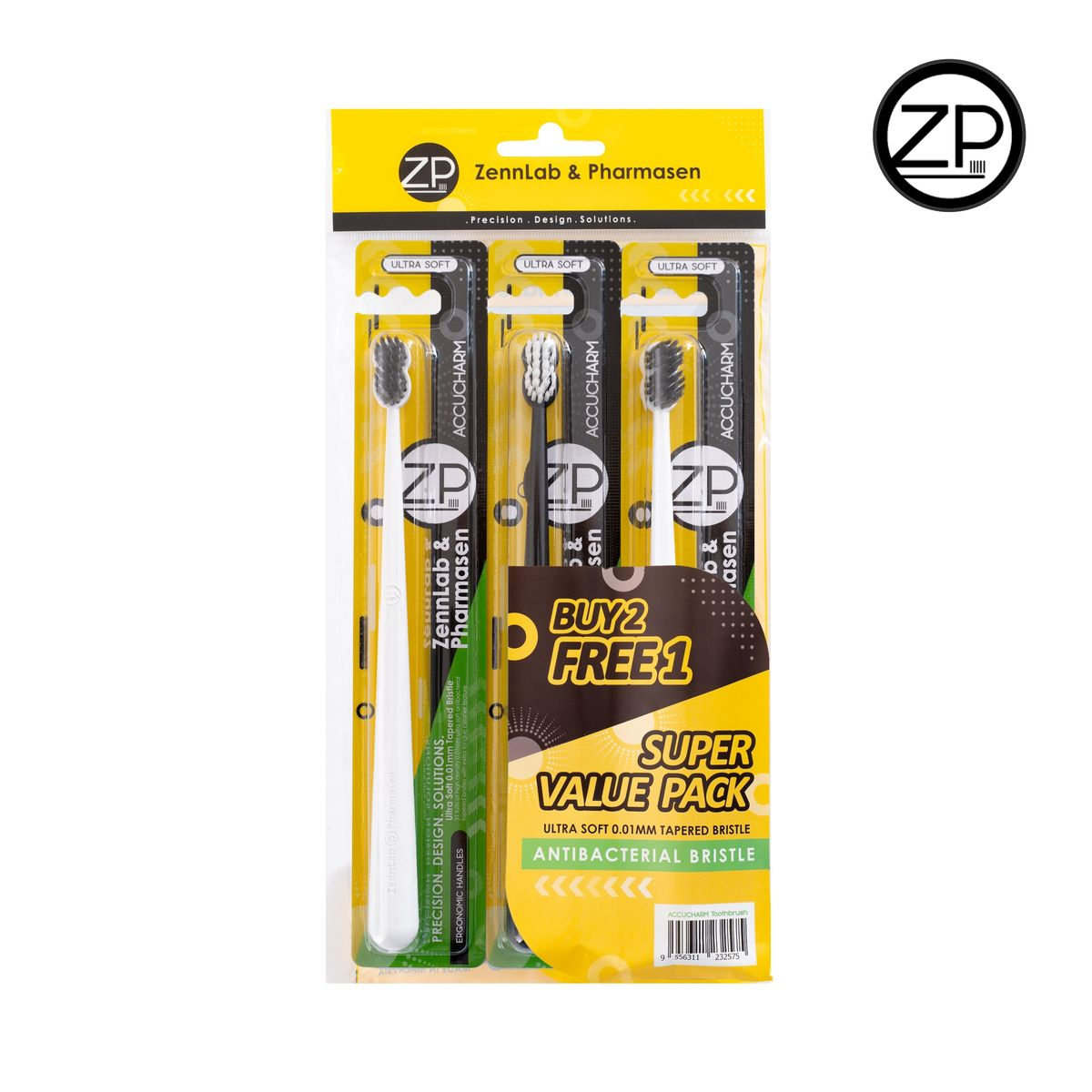 Zennlab Pharmasen Toothbrush 3's (0.01 Antibacterial) - Accucharm