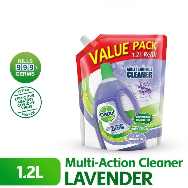 Dettol Multi Action Cleaner Refill Pouch 1.2L - Lavender