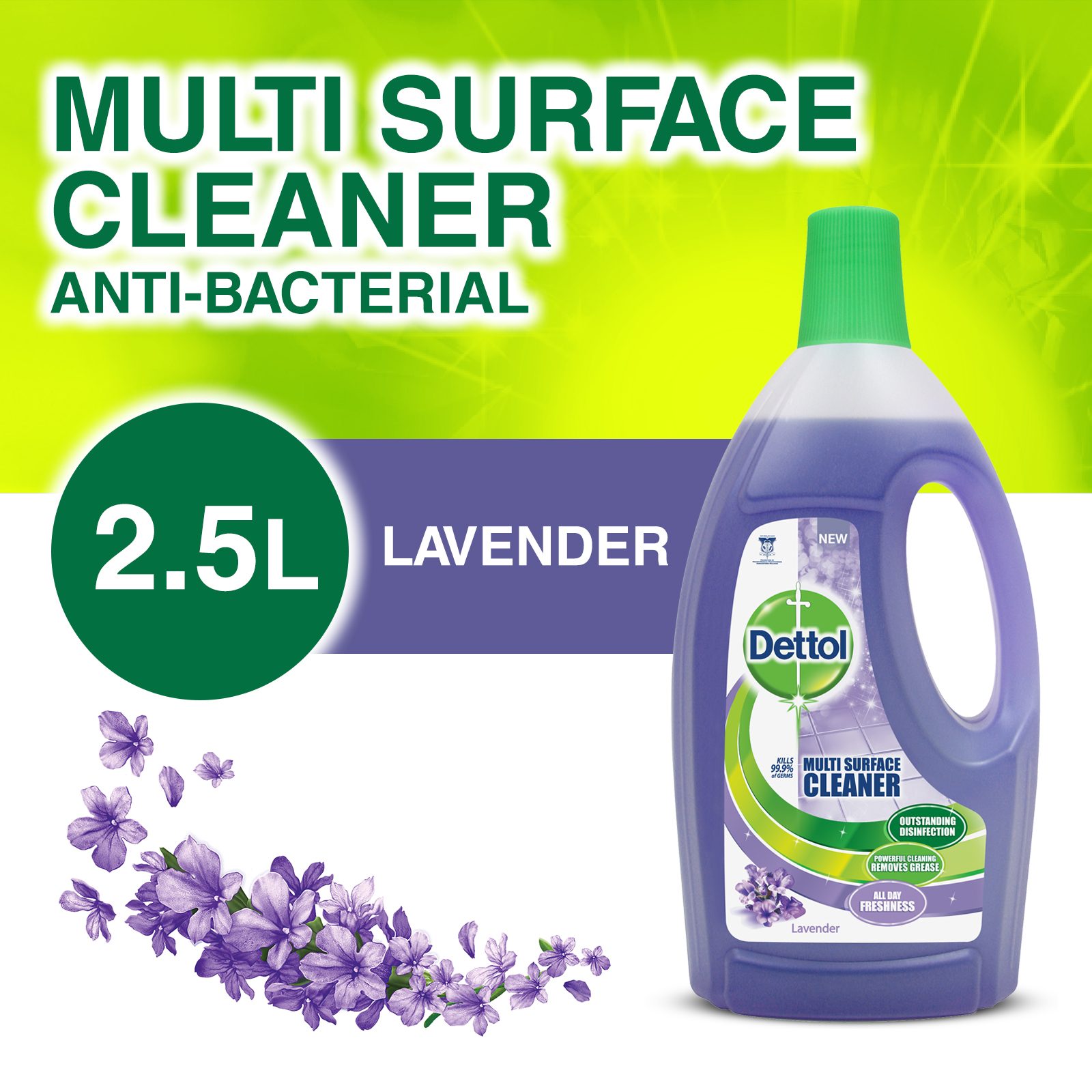 Dettol Multi Action Cleaner 2.5L - Lavender